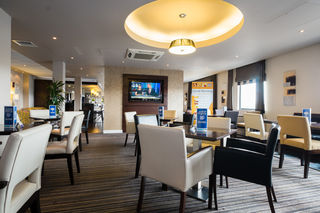 Great Room Breakfast area at Holiday Inn Express-AEC