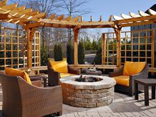 Relax and Unwind by the fire in our Outdoor Living Space