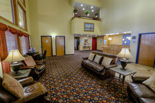 Our spacious yet cozy lobby is a great place to gather.