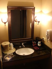Bathroom Amenities King Room at the Holiday Inn Countryside