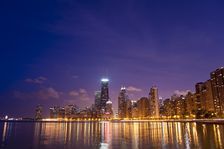 Chicago Downtown Skyline: Lake Michigan