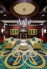Warm yourself in our comfortable lobby