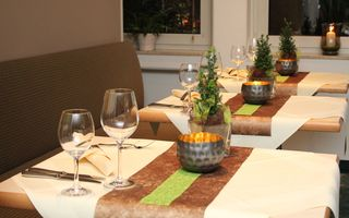 Enjoy a nice dinner on our beautiful summer terrace
