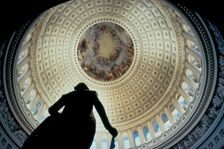 Inside the Dome of the US Capitol