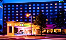 Our Ballston Virginia hotel aglow at night