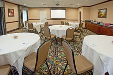 Our meeting room accommodates up to 45 people